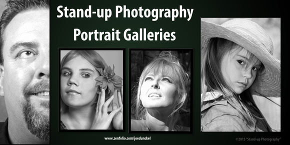 Stand-up Photography Portraits Gallery B&W Poster