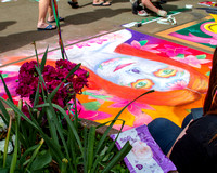 2018 Dogwood Festival Chalk Walk 22 The flower and the chalk painting_